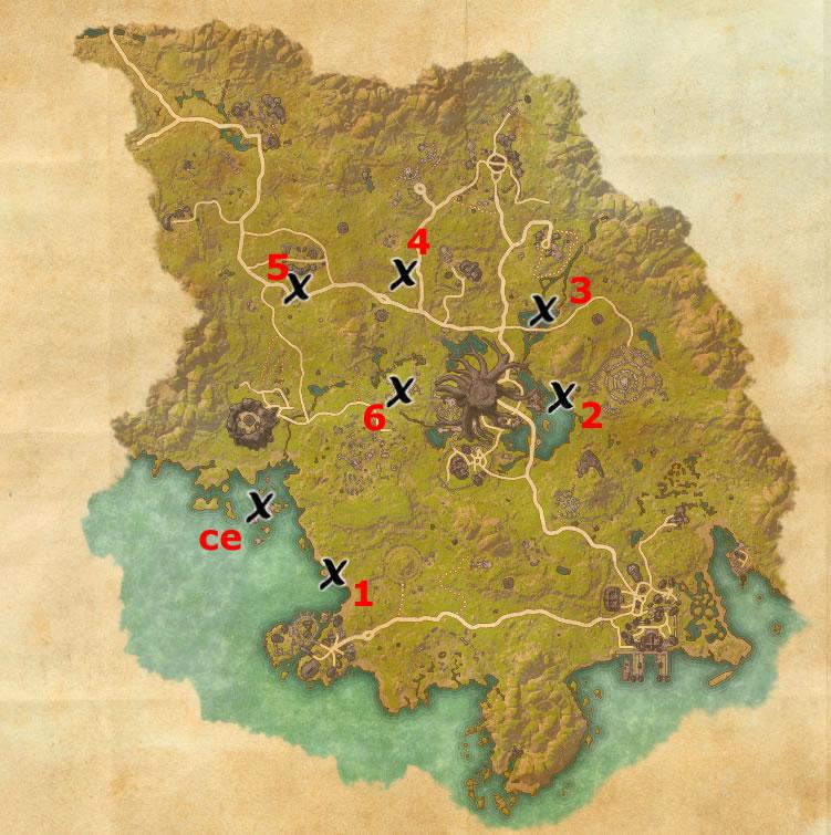 Grahtwood Treasure Map Locations | Elder Scrolls Online Guides