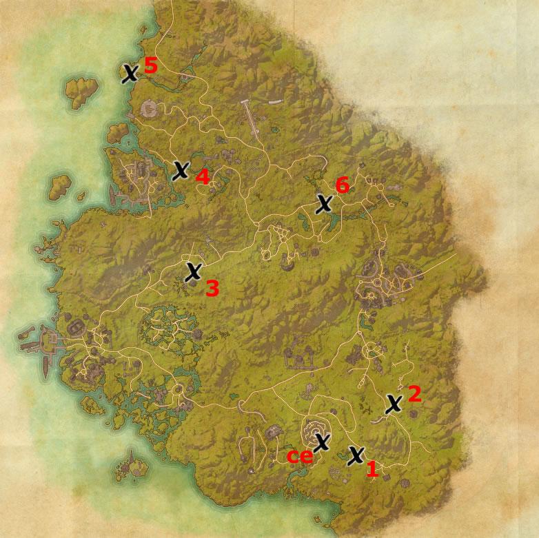 Greenshade Treasure Map 1 Greenshade Treasure Map Locations | Elder Scrolls Online Guides Greenshade Treasure Map 1