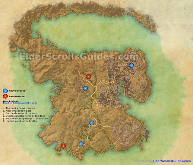 Hew's Bane Skyshards Map