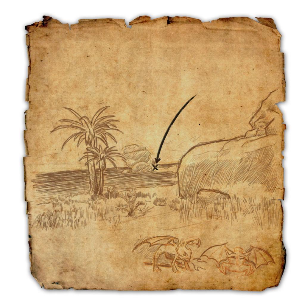 Hew's Bane Treasure Map I (1) Location
