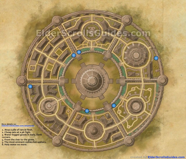Imperial City Skyshards Map