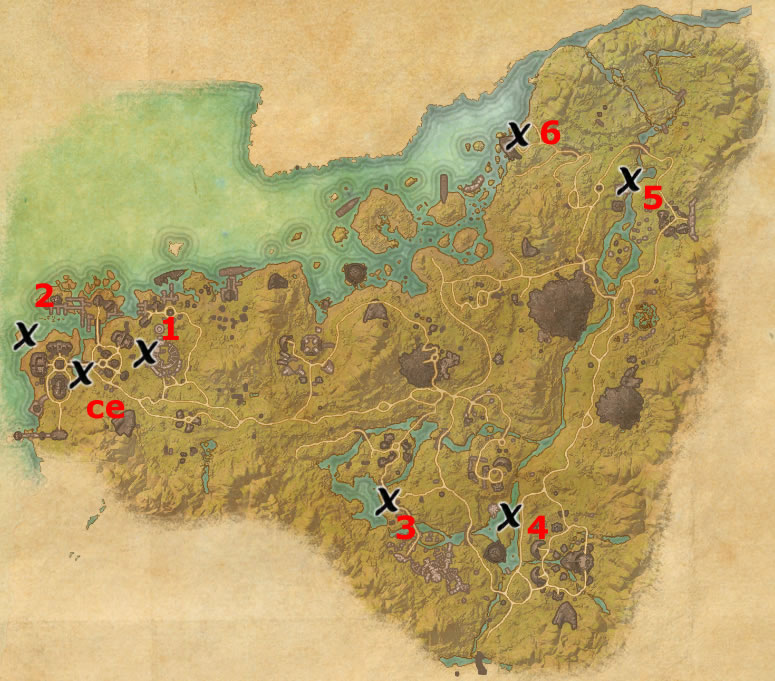 Malabal Tor Treasure Map 3 Malabal Tor Treasure Map Locations | Elder Scrolls Online Guides Malabal Tor Treasure Map 3