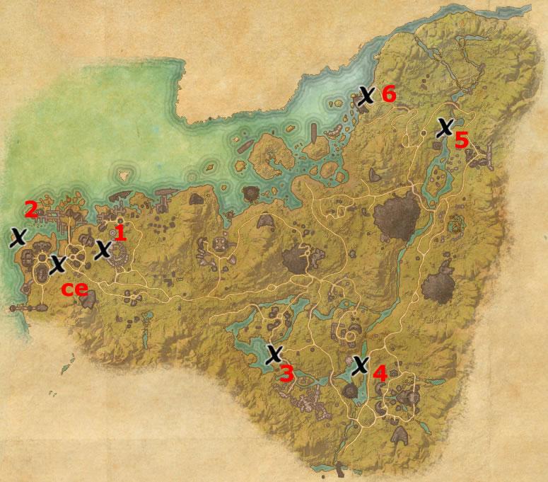 Malabal Tor Treasure Map Locations