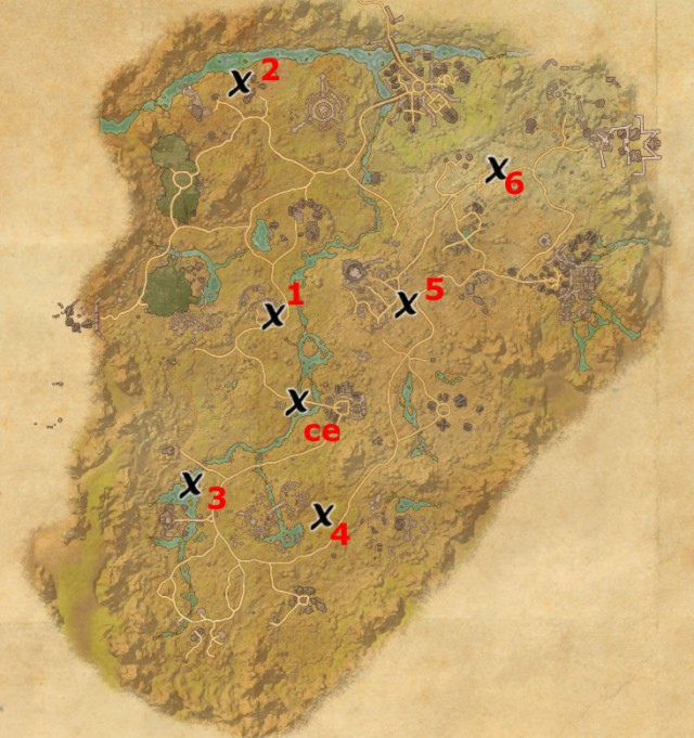 Reaper's March treasure map locations