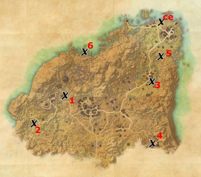 Rivenspire treasure map locations