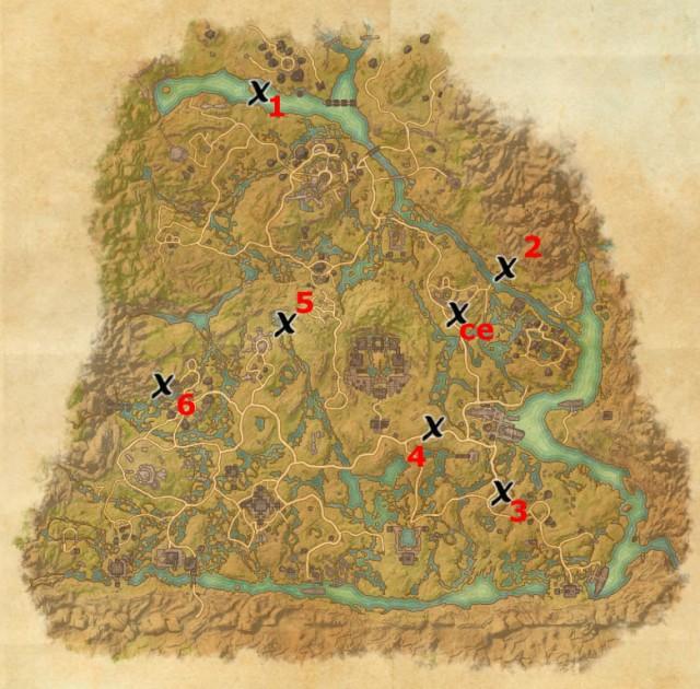 Shadowfen treasure map locations