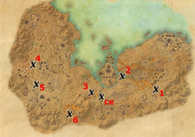 Stonefalls treasure map locations
