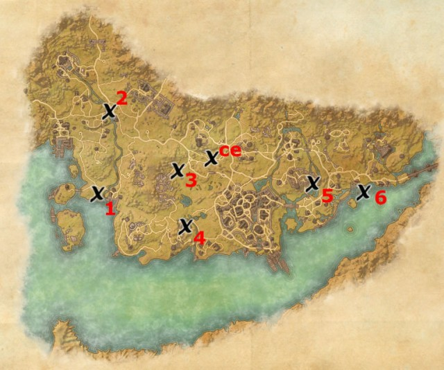 Stormhaven treasure map locations