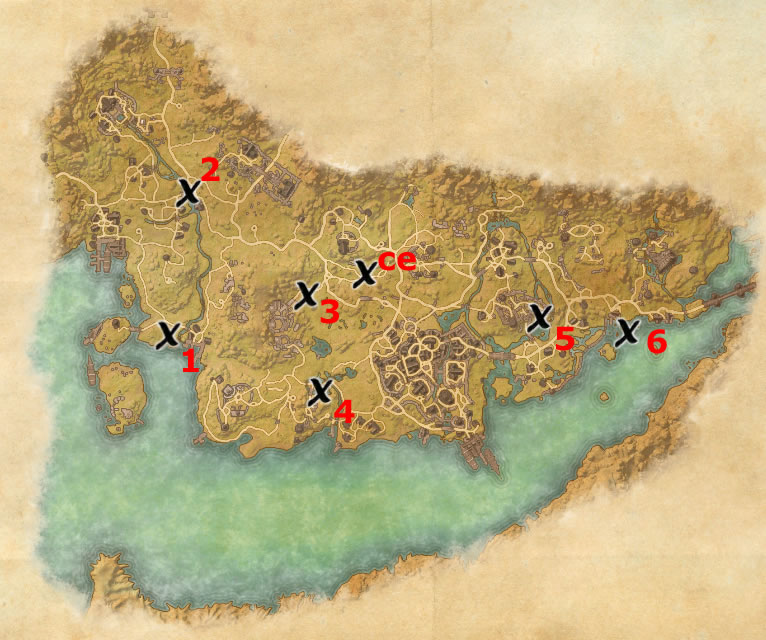 Stormhaven Treasure Map Locations | Elder Scrolls Online Guides