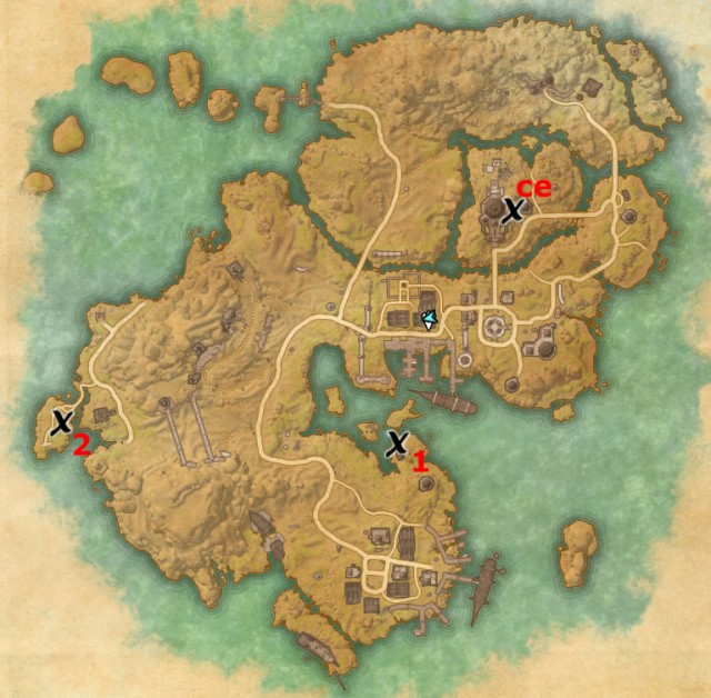 Stros M'Kai treasure map locations