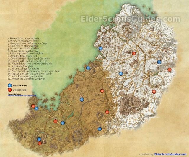 Wrothgar Skyshards Map