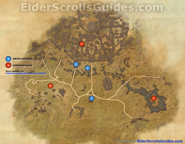 Clockwork City Skyshards Map