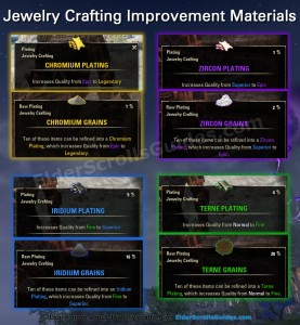 Improvement materials: Grains and Platings