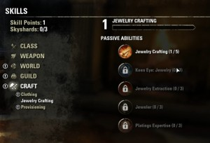 Jewelry Crafting Skill Line