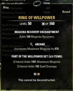 Legendary Ring of Willpower