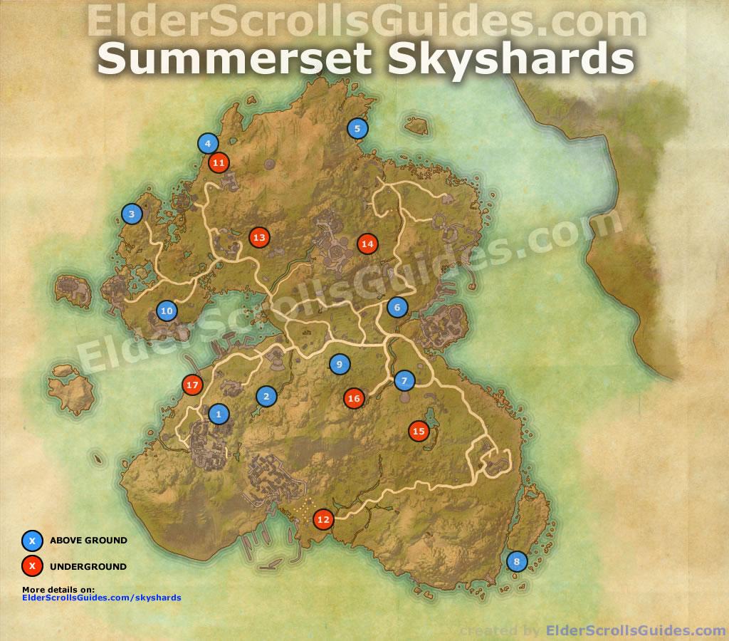 Summerset Skyshards Map