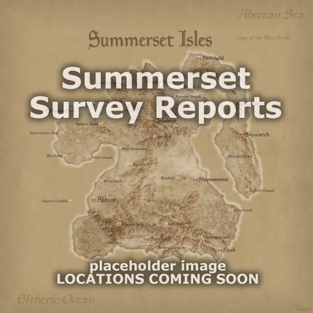 Summerset Survey Reports Map