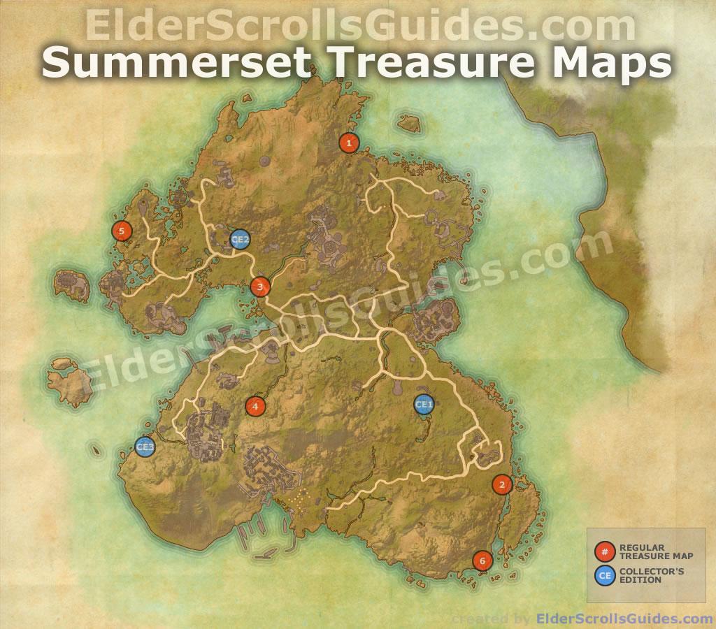 Eso Treasure Maps Summerset Treasure Map Locations | Elder Scrolls Online Guides Eso Treasure Maps