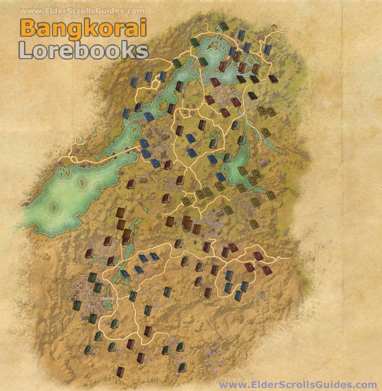 Bangkorai Lorebooks Map