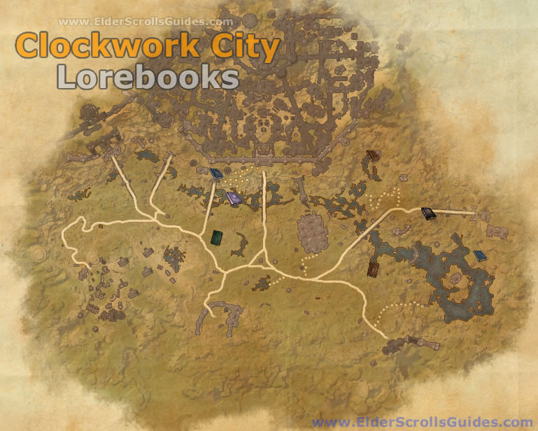 Clockwork City Lorebooks Map