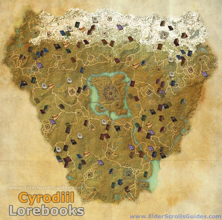 Cyrodiil Lorebooks Map