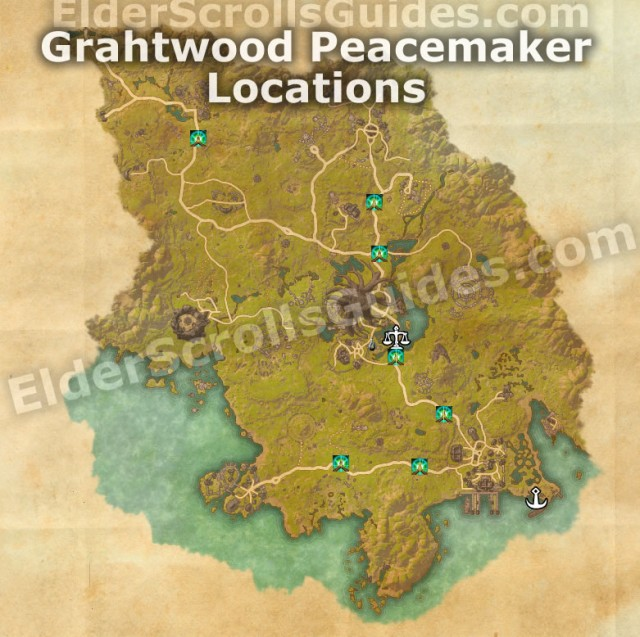 Grahtwood Peacemaker Locations Map