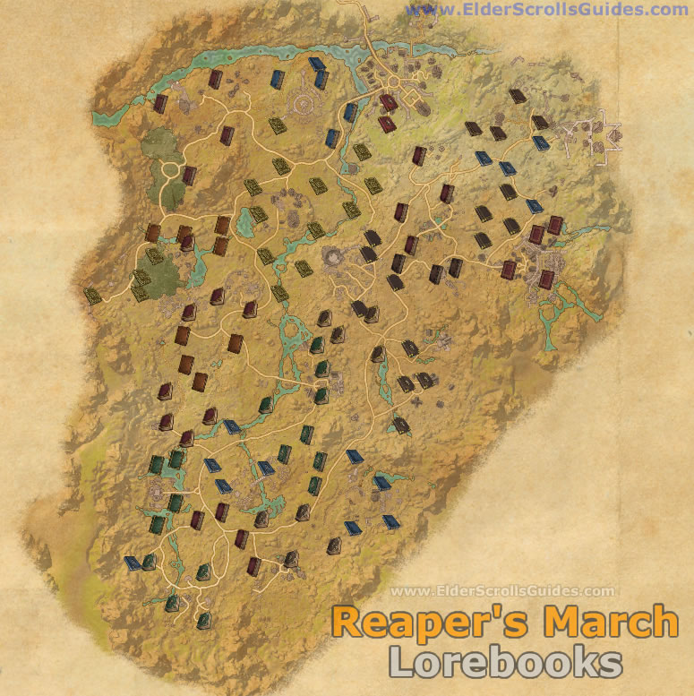 Reapers March Lorebooks Map
