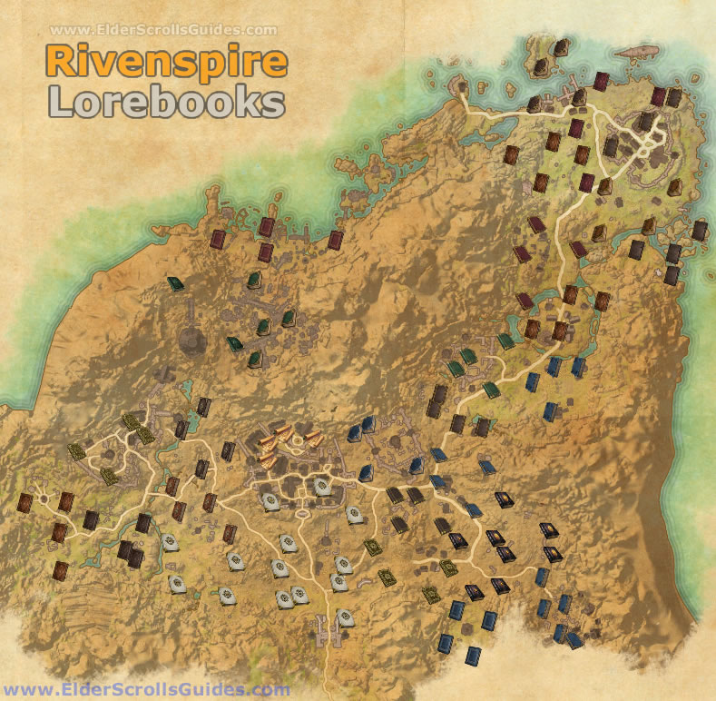 Rivenspire Lorebooks Map