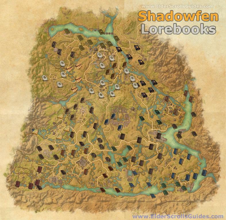 Shadowfen Lorebooks Map