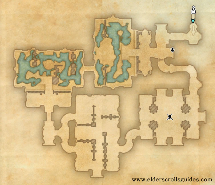 Gandranen Ruins delve map
