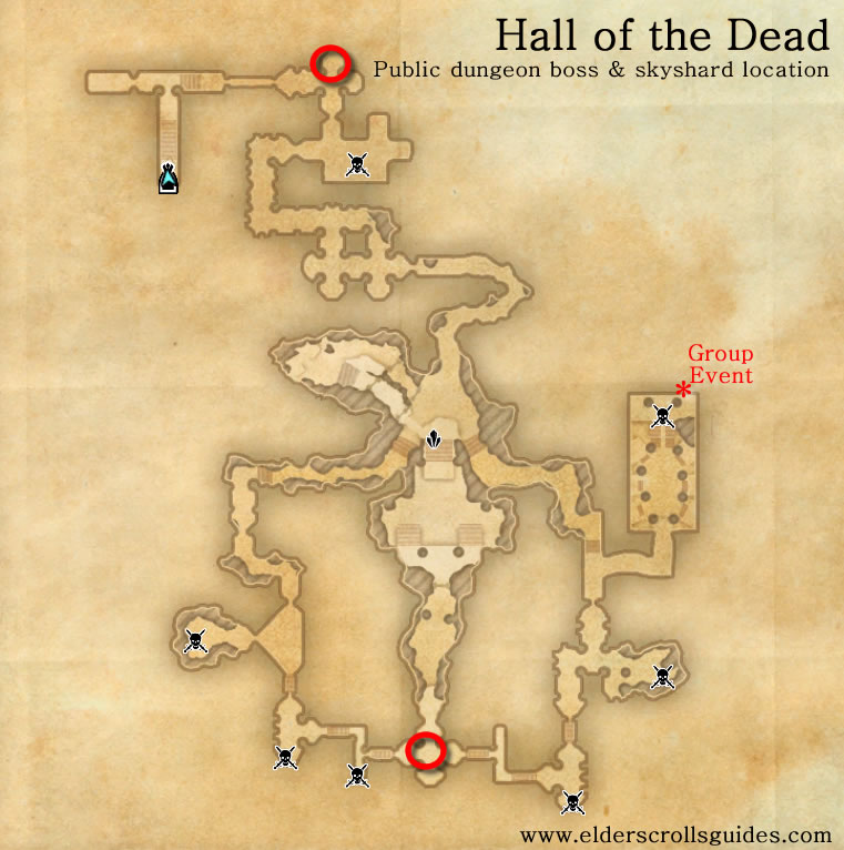 Hall of the Dead public dungeon map