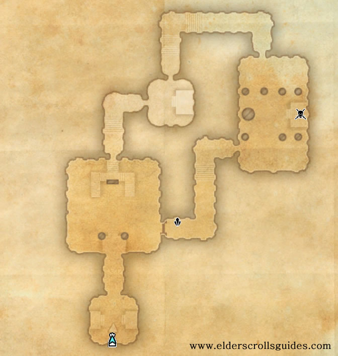 Knife Ear Grotto delve map