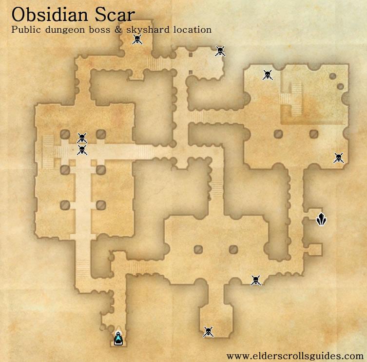 Obsidian Scar public dungeon map