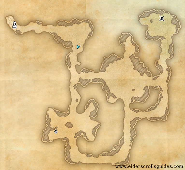 Old Sord's Cave delve map