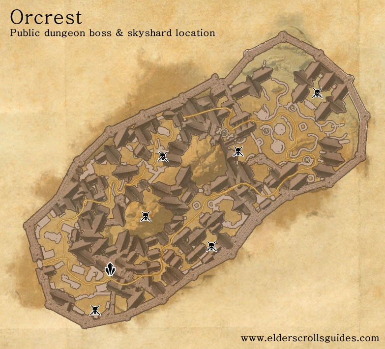 Orcrest public dungeon map