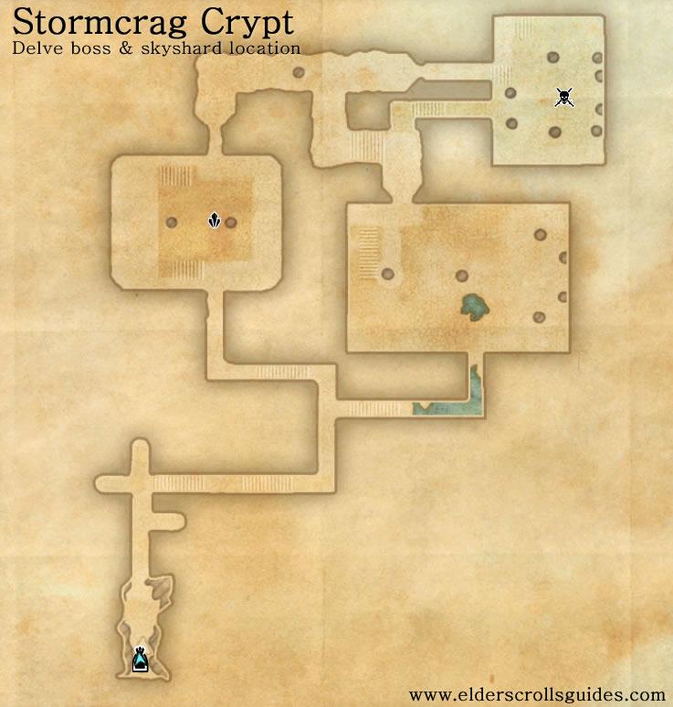 Stormcrag Crypt delve map