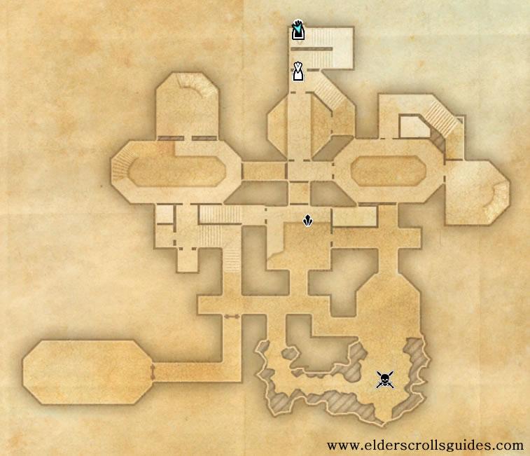 Traitor's Vault delve map
