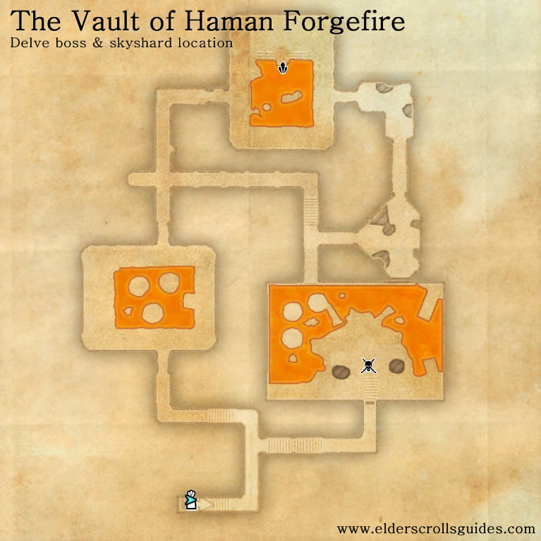 Vault of Haman Forgefire delve map
