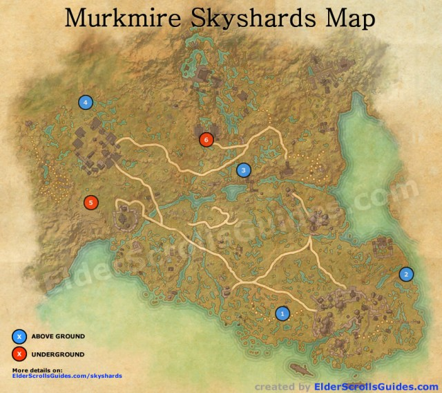 Murkmire Skyshards Map