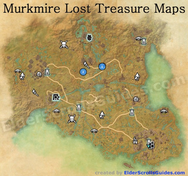 Murkmire Lost Treasure Map Locations
