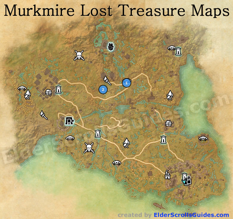 Murkmire Treasure Map Locations | Elder Scrolls Online Guides