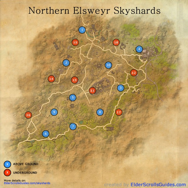 Northern Elsweyr Skyshards Map