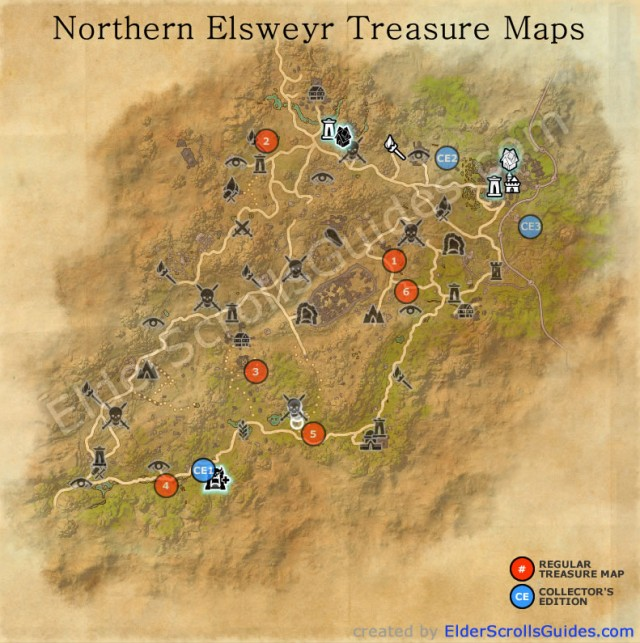 Elsweyr Treasure Map Locations | Elder Scrolls Online Guides on a map of life, a map of love, a map of home, a map of cascade, a map of roosevelt, a map of jupiter, a map of sahara, a map of time, a map of ocean, a map of odyssey,