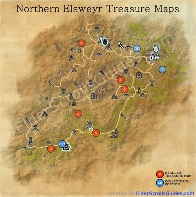 Elsweyr Treasure Map Locations | Elder Scrolls Online Guides on