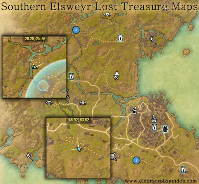 Southern Elsweyr treasure map