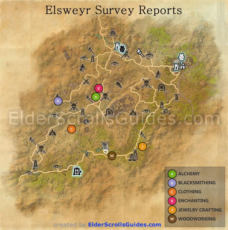 Elsweyr Survey Report Maps   Elder Scrolls Online Guides