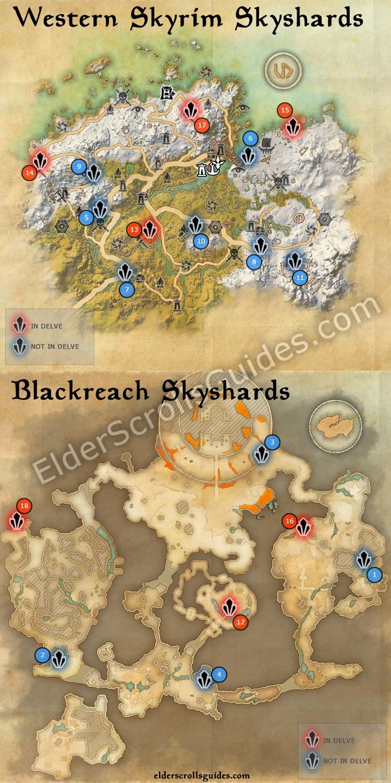 Western Skyrim & Blackreach Skyshards