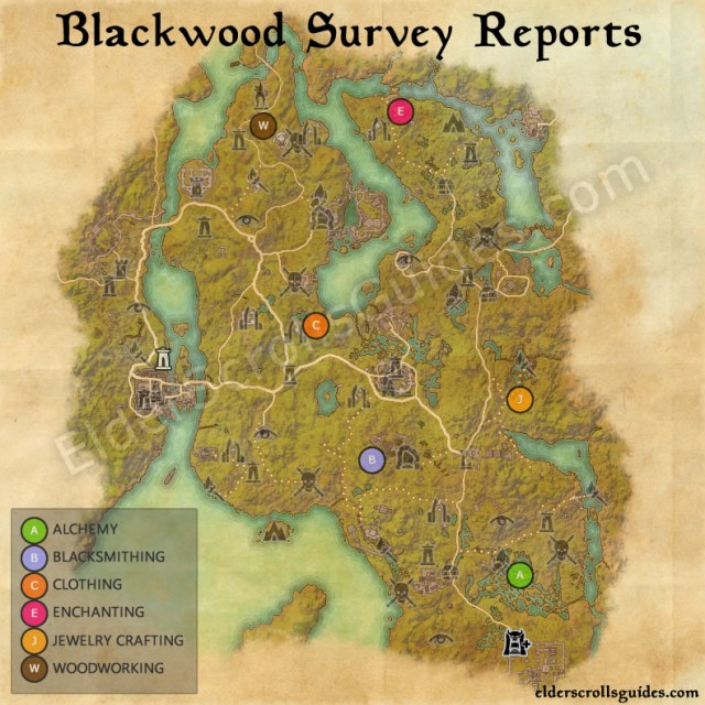 Blackwood Survey Report Map