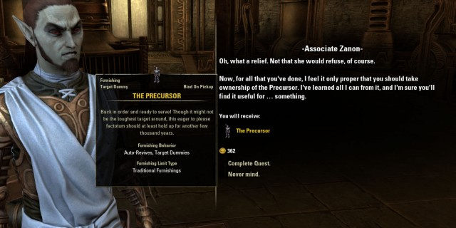 The Precursor quest reward