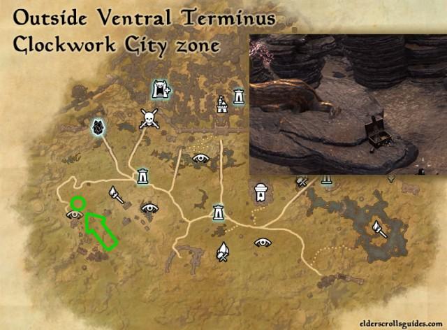 Ventral Terminus Precursor location - Integral of Introspection